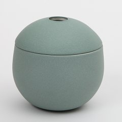 Chubby lidded jars in new colours
