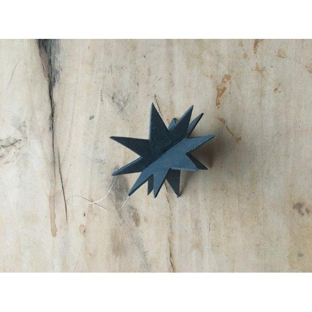 Helle Gram - Keramik julepynt, julestjerne Gemini i mørk blå, 1 stk