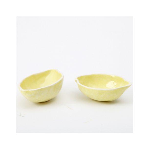 Hanne Bertelsen - Keramik håndlavet skål Citron, citrongul