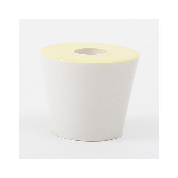 Esther Elisabeth Pedersen - Keramik håndlavet lysestage, gul