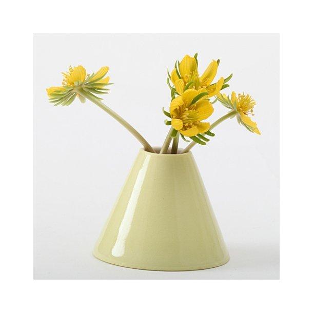 Esther Elisabeth Pedersen - Keramik Håndlavet vase erantis, gul