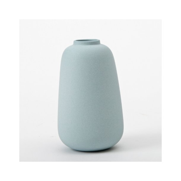 Ditte Fischer - Keramik håndlavet vase, micro, dueblå