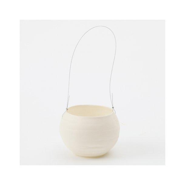 Helle Gram - Keramik hænge fyrfadsstage lille, kuglefyrfad