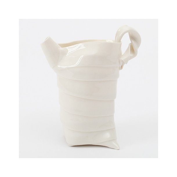 Helle Hansen - Keramik håndlavet kande i hvid (med hank)