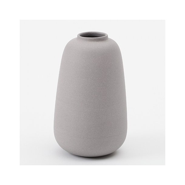 Ditte Fischer Ceramic Handmade Vase Micro Grey Vases Unika K