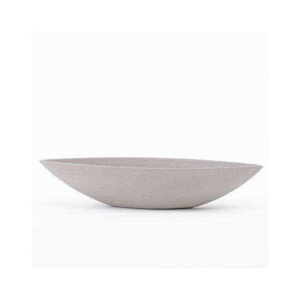 Ditte Fischer - Keramik håndlavet skål, bådskål grå, lille