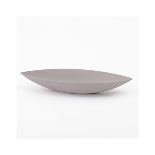 Ditte Fischer - Keramik håndlavet skål, bådskål grå, mellem