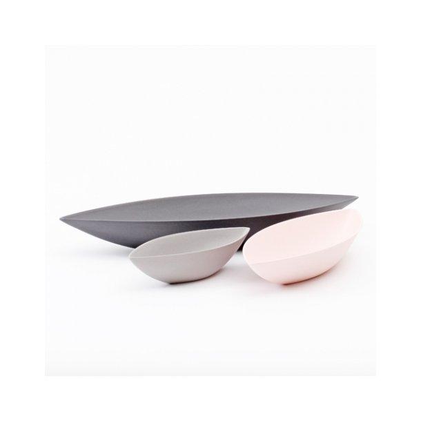 Ditte Fischer - Keramik håndlavet skål, bådskål sort, stor