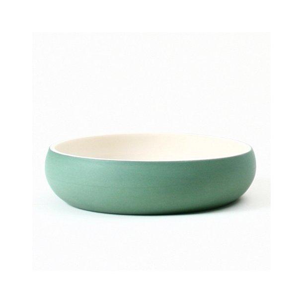 Helle Gram - Keramik håndlavet tallerken/skål chubby, grøn