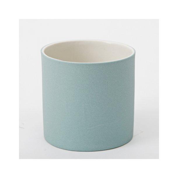 Esther Elisabeth Pedersen - Keramik urtepotteskjuler, blågrøn