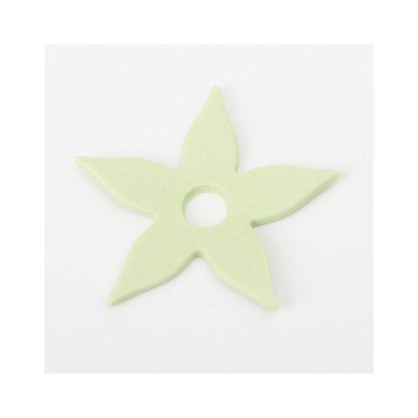 Esther Elisabeth Pedersen - Keramik blomster, 6 stk limegrøn