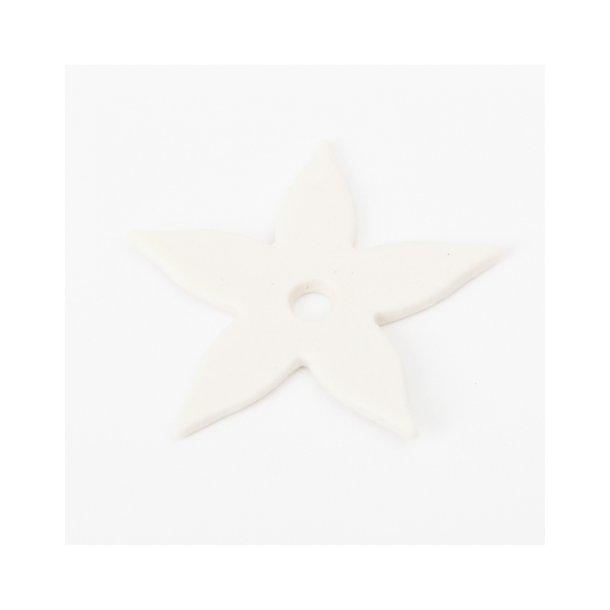 Esther Elisabeth Pedersen - Keramik blomster, 6 stk hvid