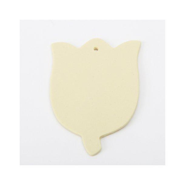 Esther Elisabeth Pedersen - Keramik tulipan til ophæng, gul