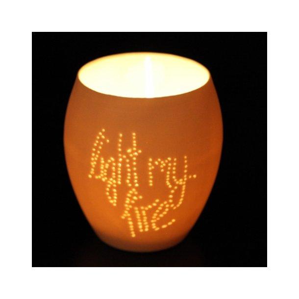 Feinedinge - Keramik fyrfadsstage NOTE, light my fire