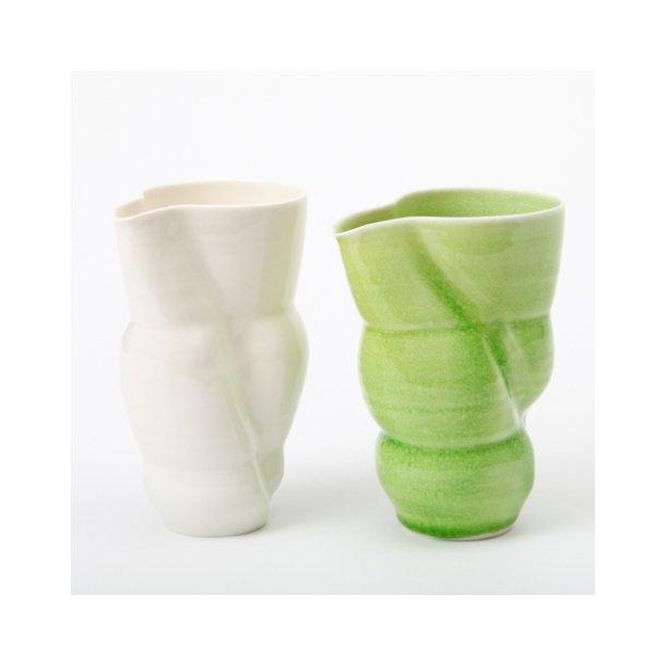 Laila Stenderup - Keramik håndlavet kande, hvid