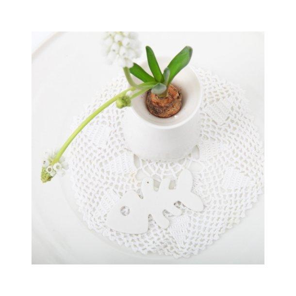 Esther Elisabeth Pedersen - Keramik fisk, hvid
