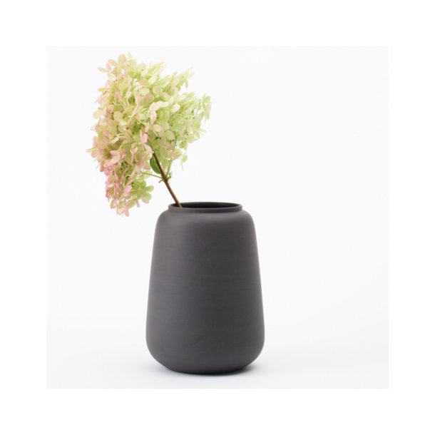 Ditte Fischer - Keramik håndlavet vase stor, sort