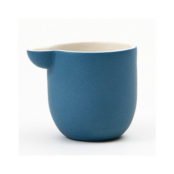Helle Gram - Keramik håndlavet lille mælkekande Chubby, blå (havblå)