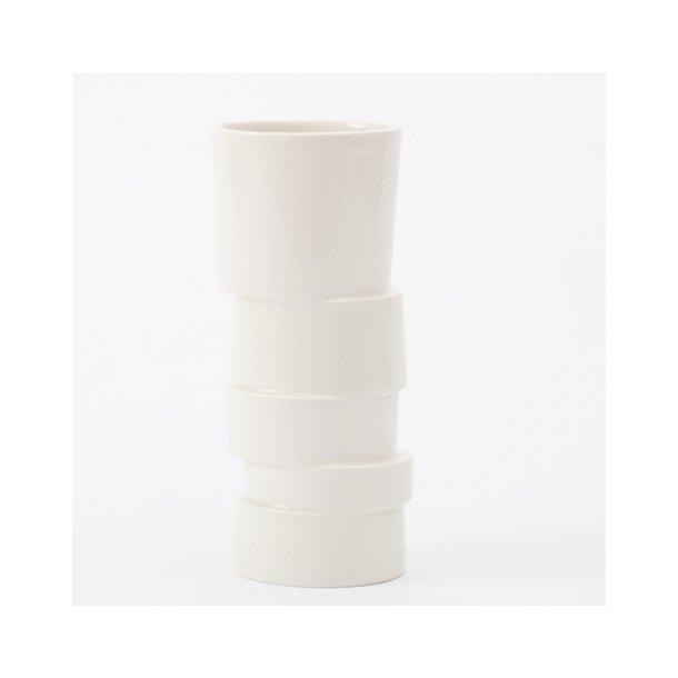 Lars Rank - Keramik vase stabel, hvid