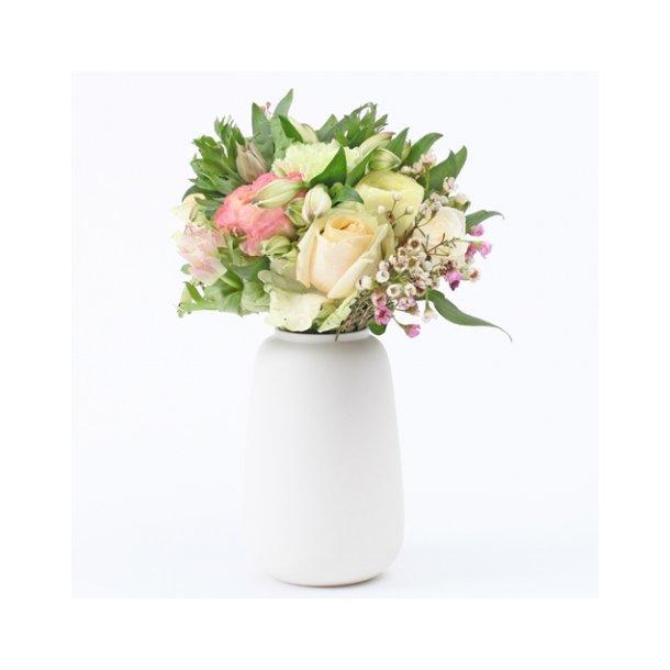Ditte Fischer - Keramik håndlavet vase, lille, hvid