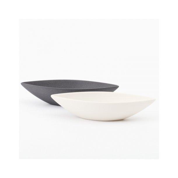 Ditte Fischer - Keramik håndlavet salt og peber sæt, sort og hvid