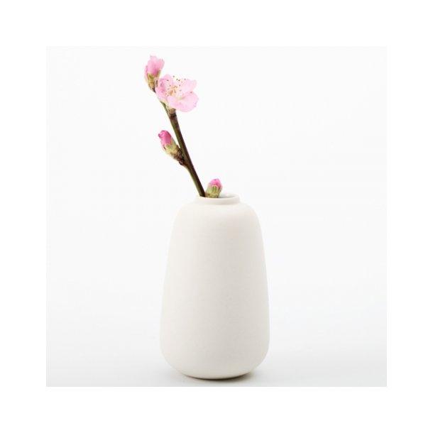 Ditte Fischer - Keramik håndlavet vase, micro, hvid