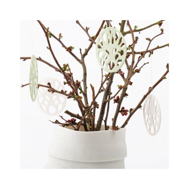 Helle Gram - Keramik ophæng 'spring', hvid