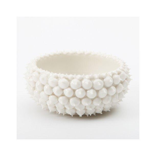 Henriette Duckert - Keramik håndlavet pigget skål hvid