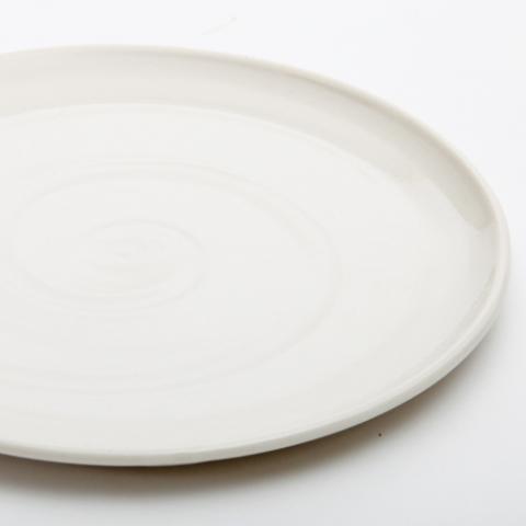 Wauw Design Ceramic Hand Thrown Plate Sondlines White