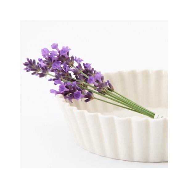 Esther Elisabeth Pedersen - Keramik håndlavet skål flæse, cremehvid, høj