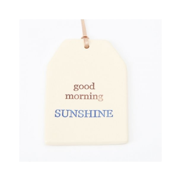 Paper boat press - Quote tag, good morning sunshine