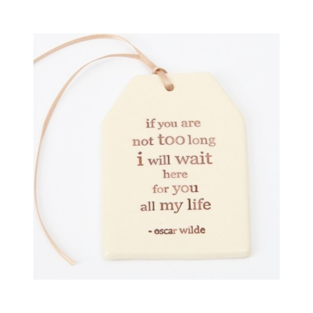 Paper boat press - Quote tag, if you are not too long i will wait here for you all my life