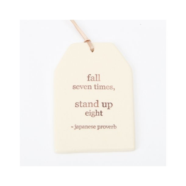 Paper boat press - Quote tag, fall seven times, stand up eight