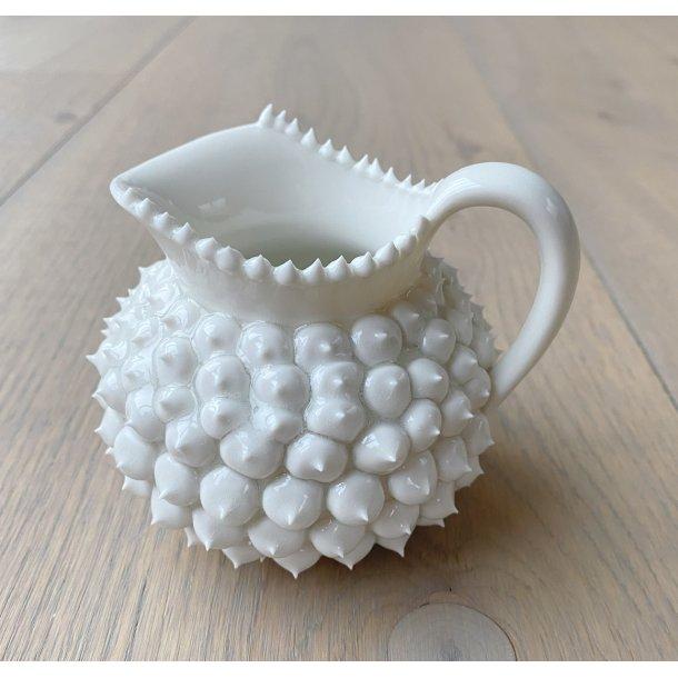 Henriette Duckert - Keramik håndlavet pigget mælkekande hvid