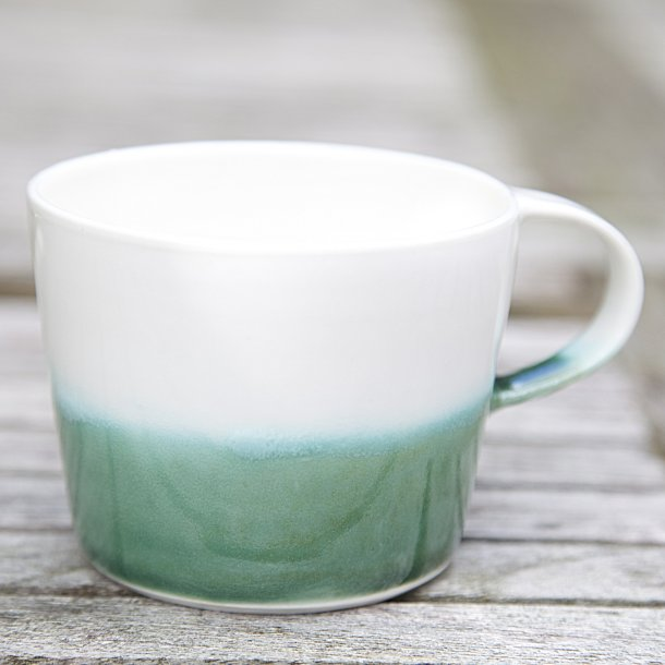 Ann-Louise Roman - Ceramic hand-thrown coffee mug, green