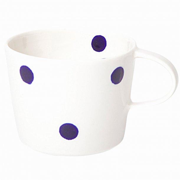 Ann-Louise Roman - Keramik hånddrejet kaffekop blue dot, store prikker