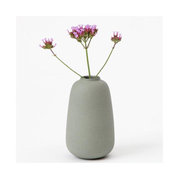 Ditte Fischer - Keramik håndlavet vase, micro, army grøn