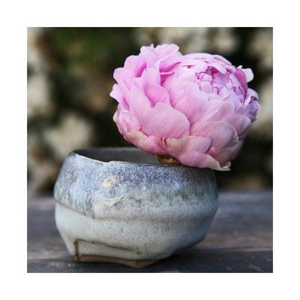 Charlotte Thorup - Keramik håndlavet rund skål, aqua fire