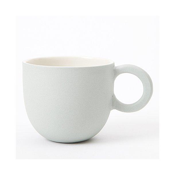Helle Gram - Keramik håndlavet kop, chubby lille, søgrøn