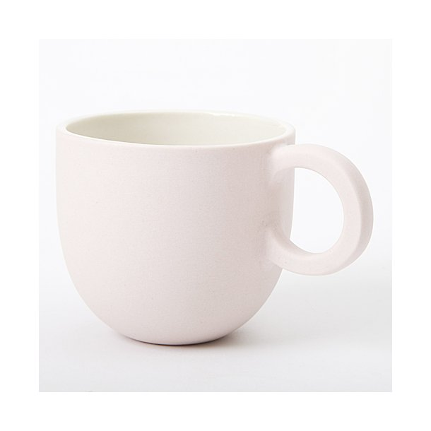 Helle Gram - Keramik håndlavet kop, chubby lille, lyserød