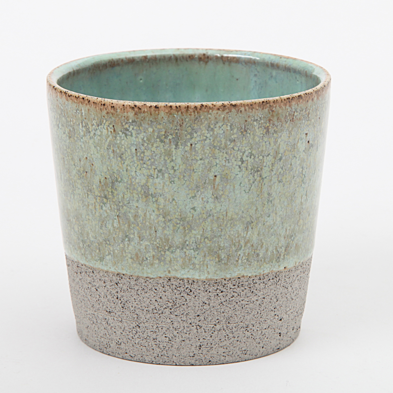 Hejdesign ceramic handmade mug cortado mint green for Handmade mug designs