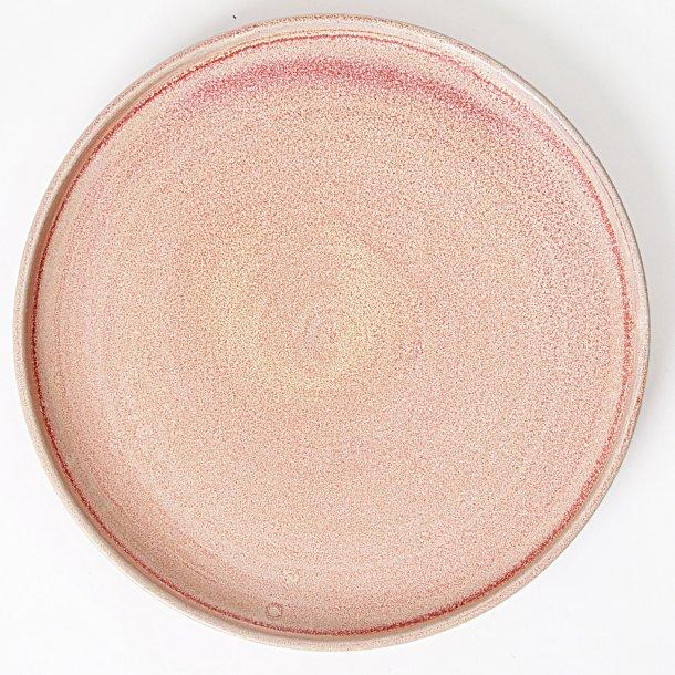 Julie Damhus Handmade - Keramik håndlavet tallerken medium, lyserød