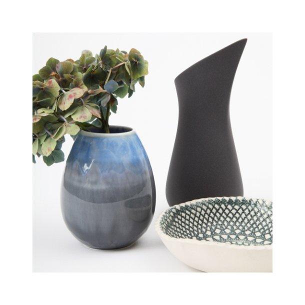 Ditte Fischer - Keramik håndlavet mælkekande, sort
