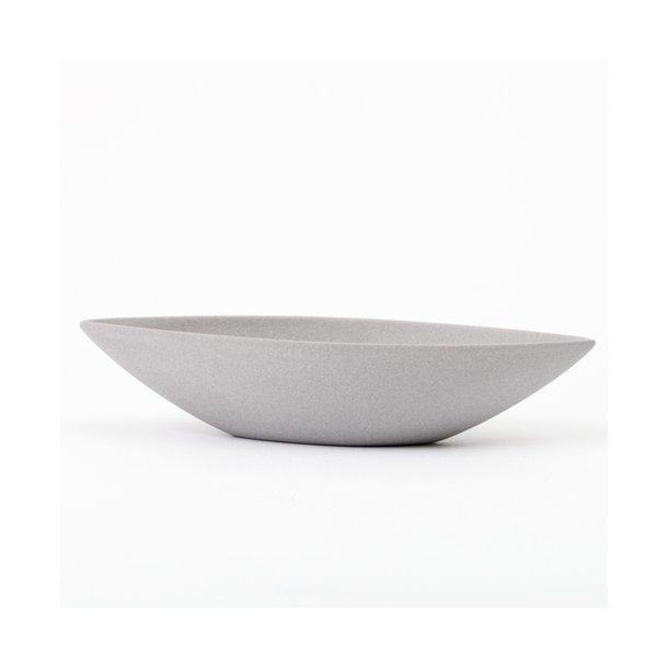 Ditte Fischer - Keramik håndlavet saltkar / micro bådskål, grå