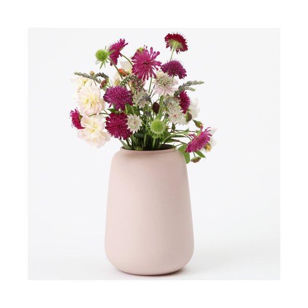 Ditte Fischer - Keramik håndlavet vase stor, rosa