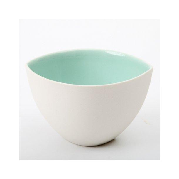 Ditte Fischer - Keramik håndlavet kop / skål, hvid og mint mega