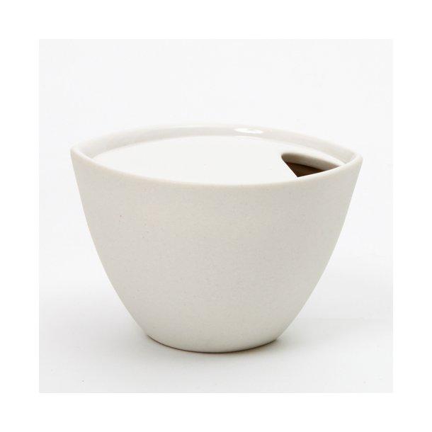 Ditte Fischer - Keramik håndlavet sukkerskål, hvid