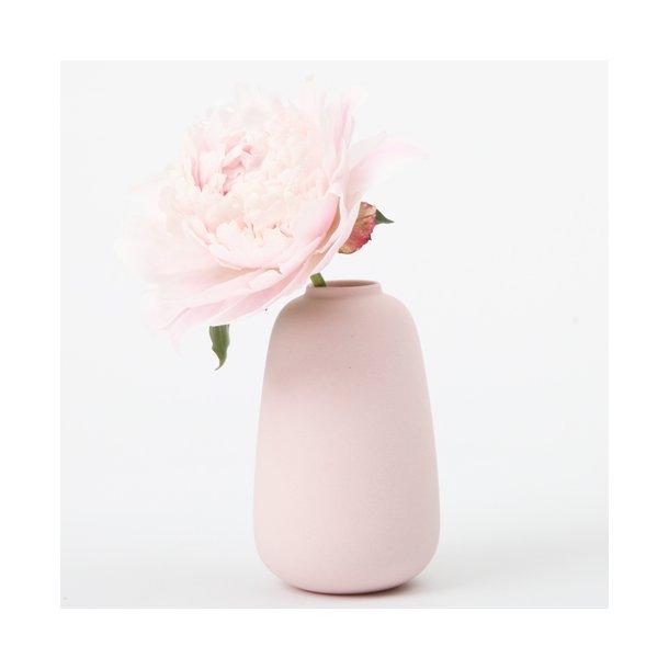 Ditte Fischer - Keramik håndlavet vase, micro, rosa