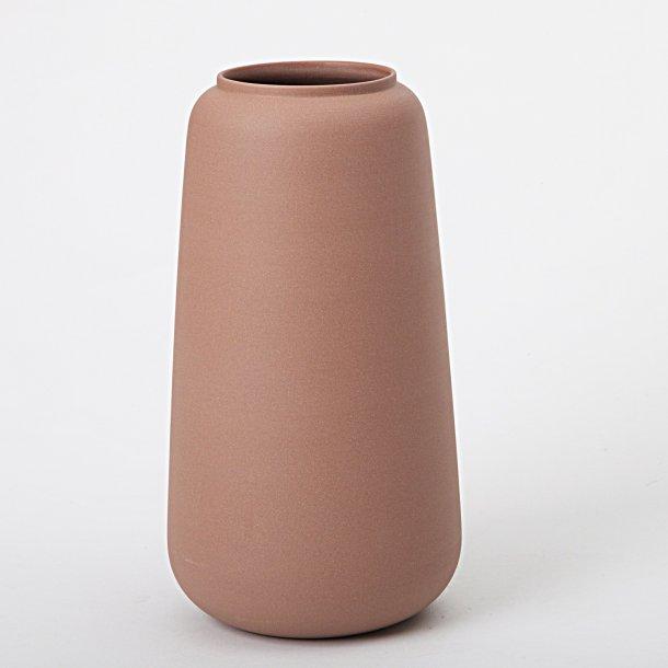 Ditte Fischer - Keramik håndlavet vase terracotta, høj