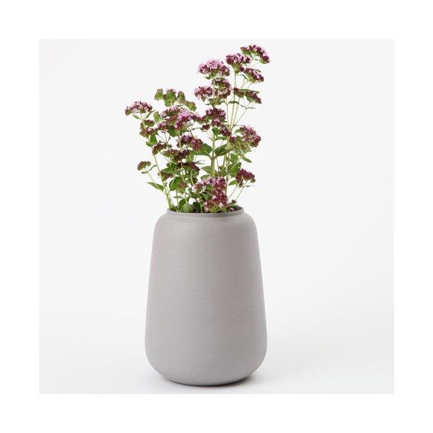Ditte Fischer - Keramik håndlavet vase stor, grå